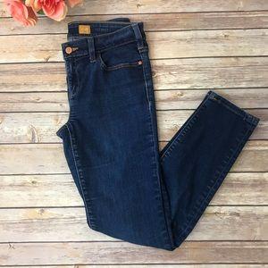 Pilcro and the Letterpress Dark wash skinny jeans